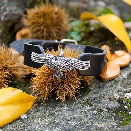 Leather Raven Flight Bracelet