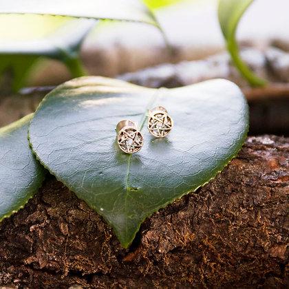 Pentagram Stud Earrings [Silver]