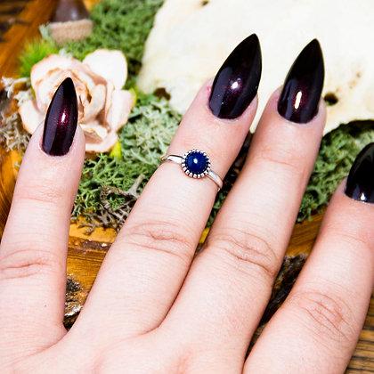 Lapis Lazuli Midi Ring [Silver]