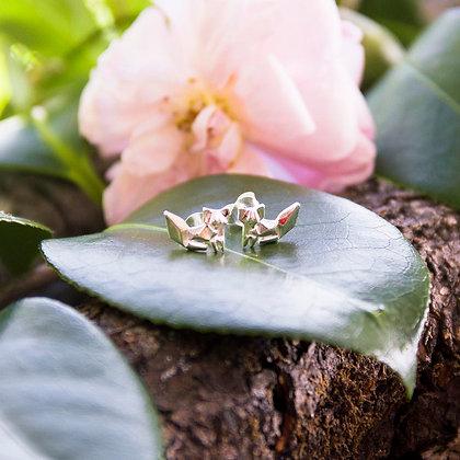 Fox Earrings [Silver]