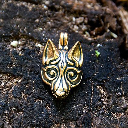 Wolf Mask Pendant [Bronze]