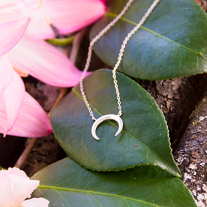 Crescent Moon Necklace [Silver]