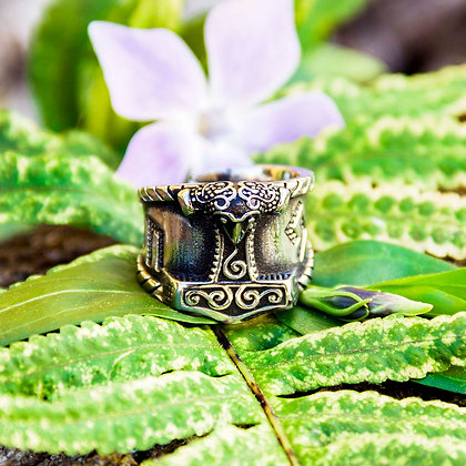 Mjolnir Crow Ring