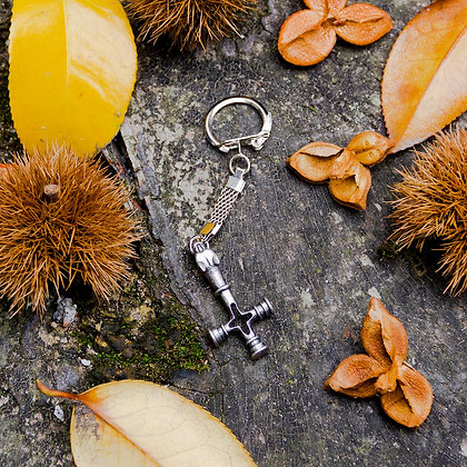 Wolf Cross Key Ring