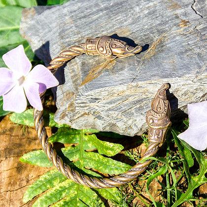 Viking Beast Torques Bracelet [Bronze]