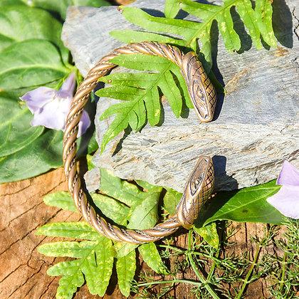 Snake Torques Bracelet [Bronze]