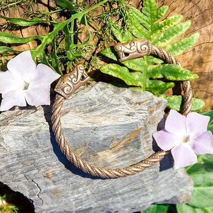Wolf Torques Bracelet [Bronze]
