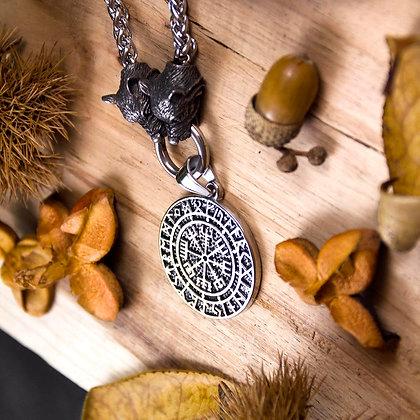 Vegvisir with Runes Medallion