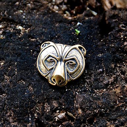 Bear Head Pendant [Bronze]