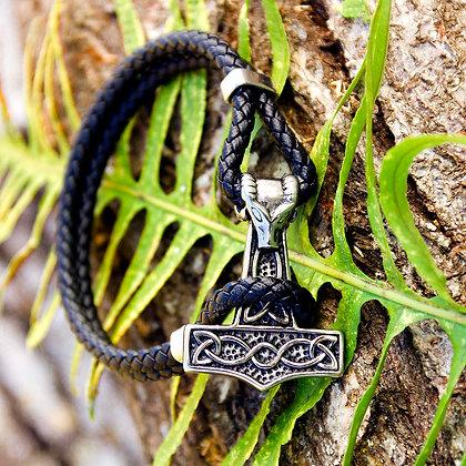 Mjolnir Goat Leather Bracelet