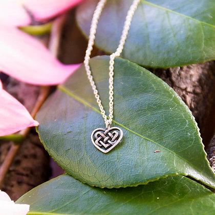 Celtic Heart Necklace [Silver]