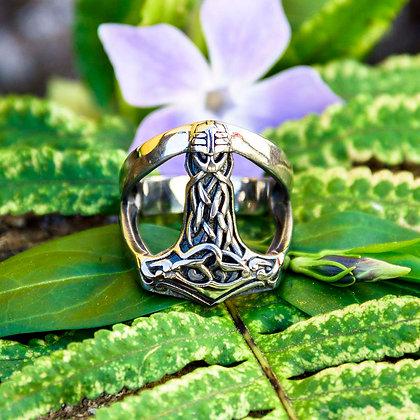 Bearded Mjolnir Ring