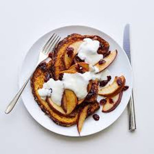 French Toast w/Sauteed Pears & Cranberries - 6 Pts.