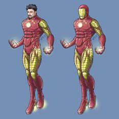 練習イラスト2「アイアンマン」