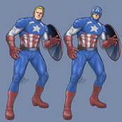 練習イラスト2「キャプテン・アメリカ」