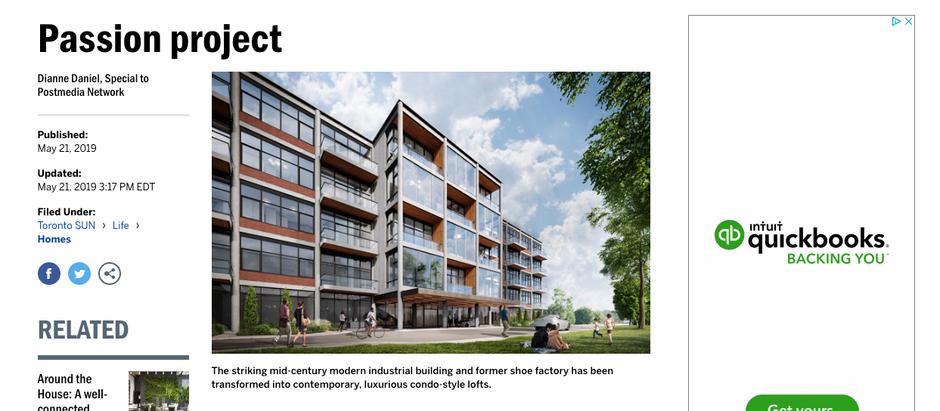 BataLofts Project Featured in Toronto Sun