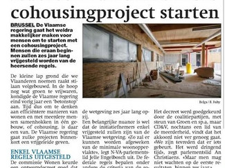 Proefomgeving nieuwe woonvormen: CD&V wil snel verankering in het beleid