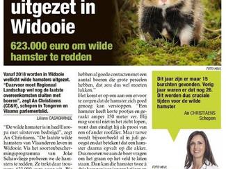 Cruciaal jaar voor wilde hamster