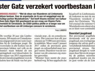 Jeugdbeleid in Limburg: groen licht voor Limbomania 2017