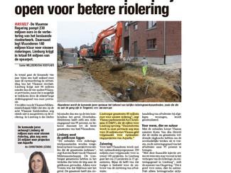 Vlaanderen investeert 64 miljoen euro in Limburgse riolering en zuivering