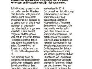 De Watergroep moet investeren in waterontharding Zuid-Limburg