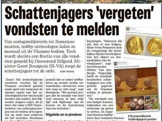 Metaaldetectie levert weinig archeologische vondsten op