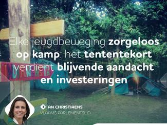 Tententekort jeugdbewegingen verdient blijvende aandacht en investeringen