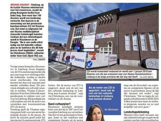 Kunstencentrum Z33 wordt Vlaamse vzw, uitrol van cultuurplan Limburg volgt hopelijk snel