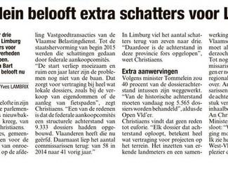 Limburg op agenda Tommelein: eerste vraag zorgt voor extra aanwervingen commissarissen vastgoed.
