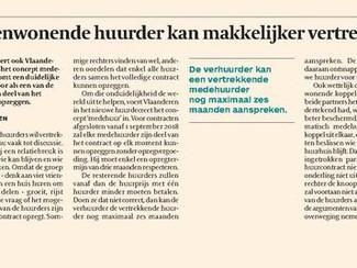 Concept medehuur wordt juridisch ingevoerd in Vlaanderen