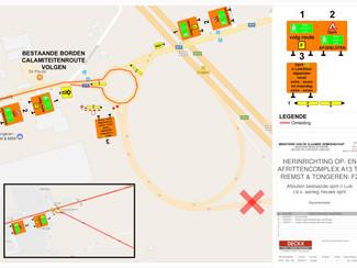 Aansluiting nieuwe oprit richting Luik aan op- en afrittencomplex E313