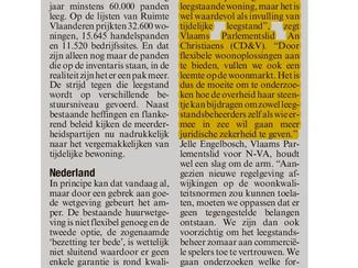 Vlaamse meerderheidspartijen willen leegstandsbeheer onderzoeken