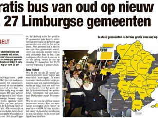 Ook in Tongeren veilig naar huis met de feestbus!