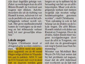 Verzadigde afrit Bilzen-Hoeselt heeft een oplossing nodig