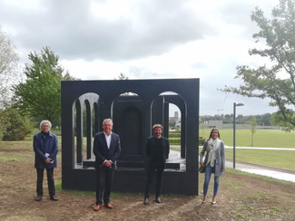 Kunstwerk 'In Memoriam' voorgesteld in het Pliniuspark