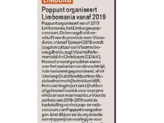 Poppunt organiseert Limbomania 2019