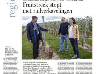 Geen ruilverkaveling meer in Limburgse fruitstreek