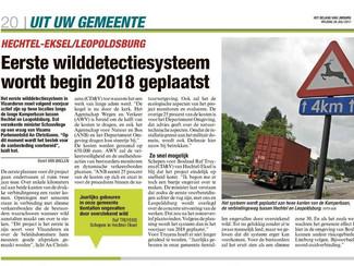 Proefproject wilddetectie in Bosland start in voorjaar 2018