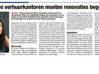 Sociale verhuurkantoren als partner voor renovatie