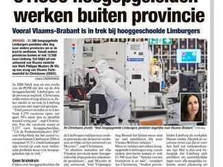 31.300 hoogopgeleide Limburgers pendelen naar andere provincies