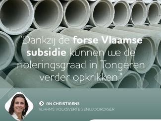 Vlaanderen investeert in Tongerse riolering