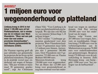 1.185.446 euro steun voor Limburgs platteland