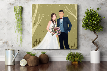 婚禮無框畫