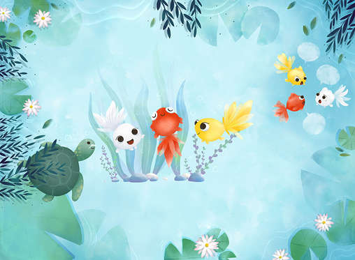 國語日報_小金魚比美