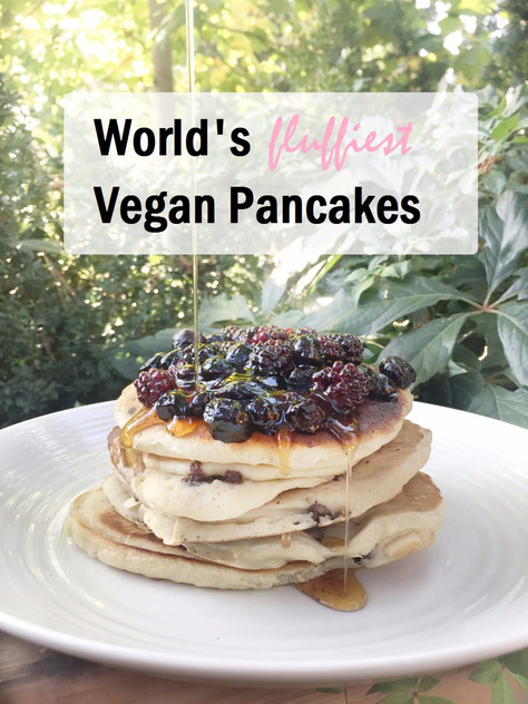 World's Fluffiest Vegan Pancakes