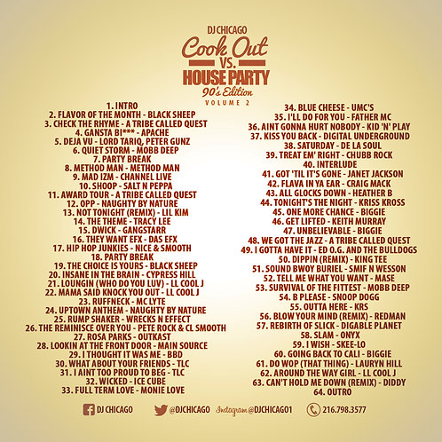 COOK OUT VS. HOUSE PARTY 90S EDITION (DOWNLOAD)