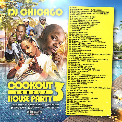 COOK OUT VS. HOUSE PARTY 3 (DOWNLOAD)