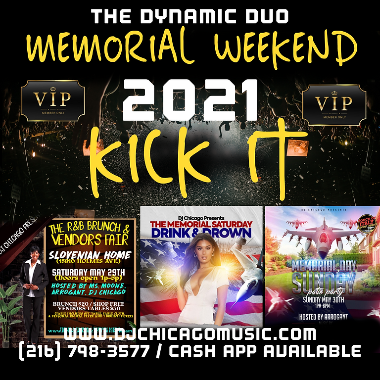 Memorial Weekend (VIP) all 3 events