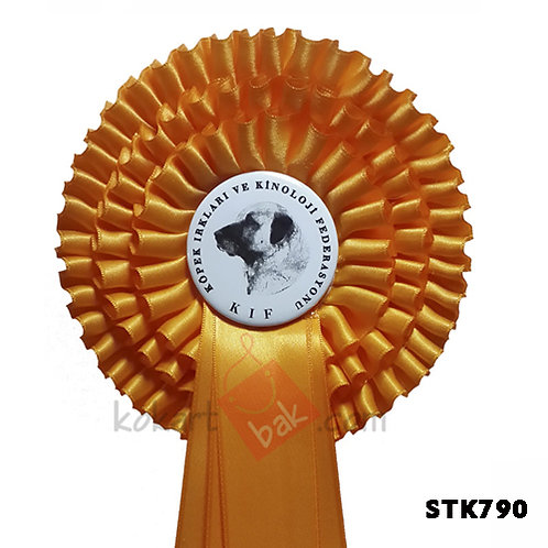 Yarışma Kokartı Köpek Irkları Yarışmaları Üç Sıralı