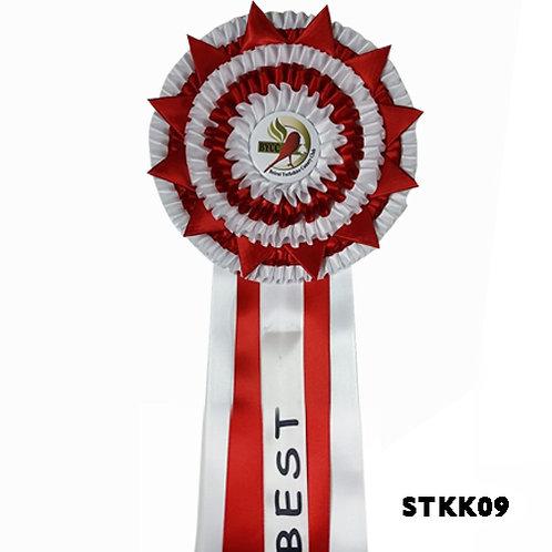 Best İn Show Kanarya Yarışmaları Kokartı Kırmızı Beyaz